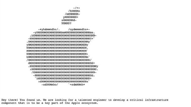 Apple 'hides' job online featured image