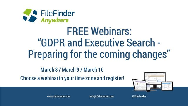 "Additional Webinar Dates: ""GDPR and Executive Search – Preparing for the Coming Changes"" featured image"