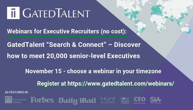 "GatedTalent ""Search & Connect"" – Discover how to meet 25,000+ senior-level Executives featured image"