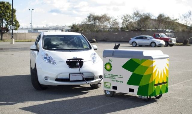 BP to test mobile electric vehicle chargers in the UK  (Dud?) featured image