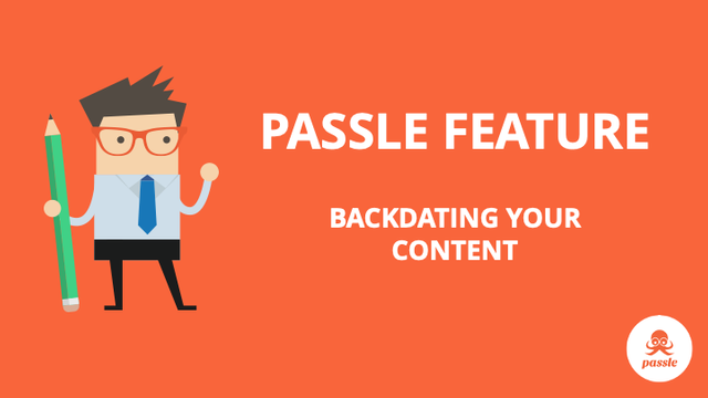 Feature: Backdating your content featured image