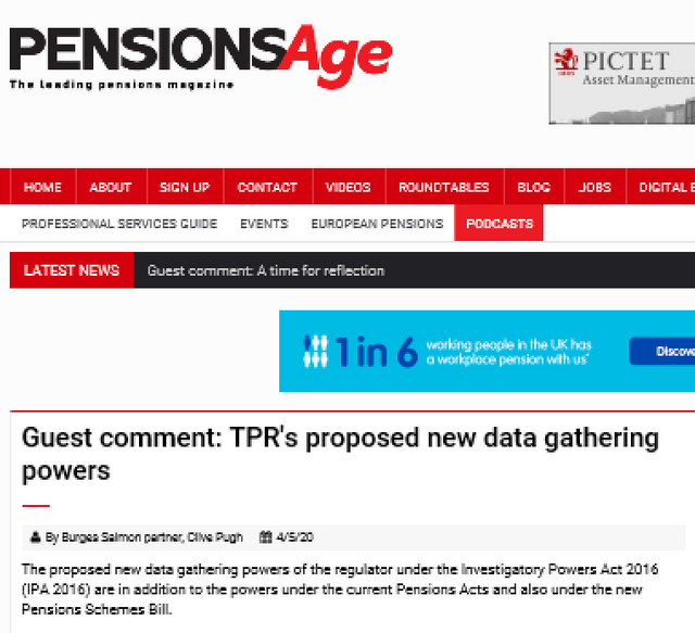 Pensions Age Guest Comment: TPR's proposed new data gathering powers featured image