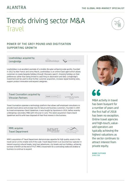 Trends driving M&A in Travel - H1 2018 featured image
