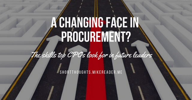 A changing face in procurement? featured image