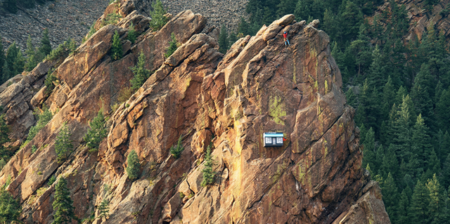 Outdoor brand 37.5 Technology opened a remote pop-up shop 300 feet up on the side of a cliff featured image