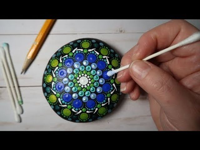 Create your own beautiful dot art mandala painting featured image