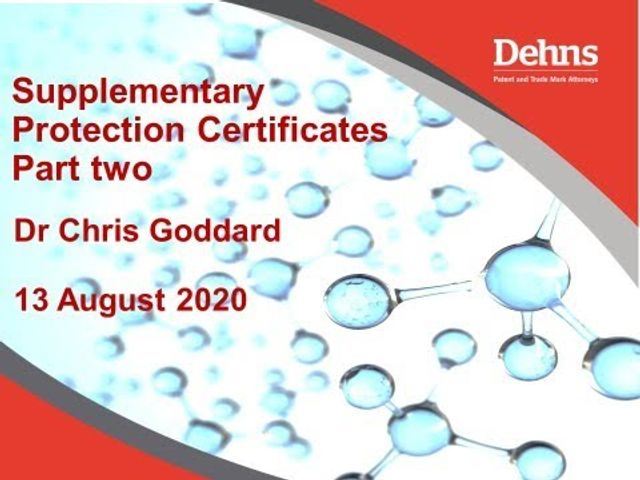 Webinar: Supplementary Protection Certificates - part two featured image