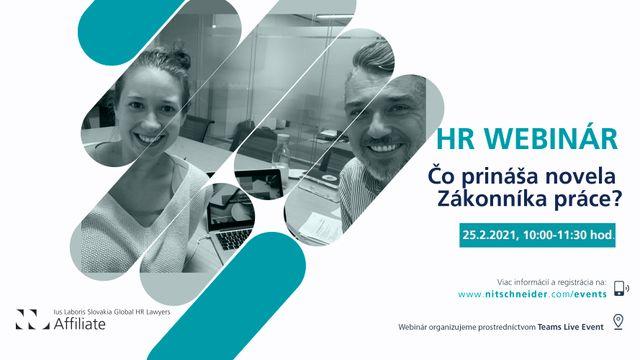 HR Webinár: Čo prináša novela Zákonníka práce? featured image