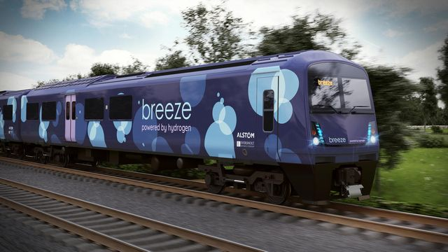 Alstom and Eversholt Rail unveil a new hydrogen train design for the UK featured image