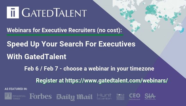 [Webinars for Executive Recruiters] Speed Up Your Search For Executives With GatedTalent featured image