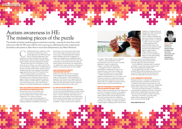 Autism awareness in HE: the missing pieces of the puzzle featured image