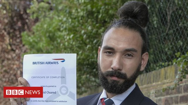 Man bun hairstyle 'gets British Airways worker the sack' featured image