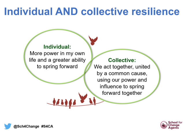 Springing Forward Together: Thoughts on Resilience as an Act of Defiance (Module 2 of The School for Change Agents) featured image