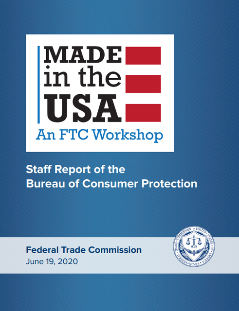 "FTC Issues Staff Report on ""Made in USA"" Workshop featured image"