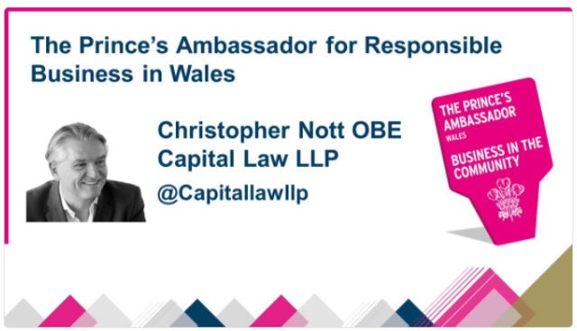 Senior Partner, Chris Nott, is appointed as new Prince's Ambassador for Responsible Business in Wales featured image