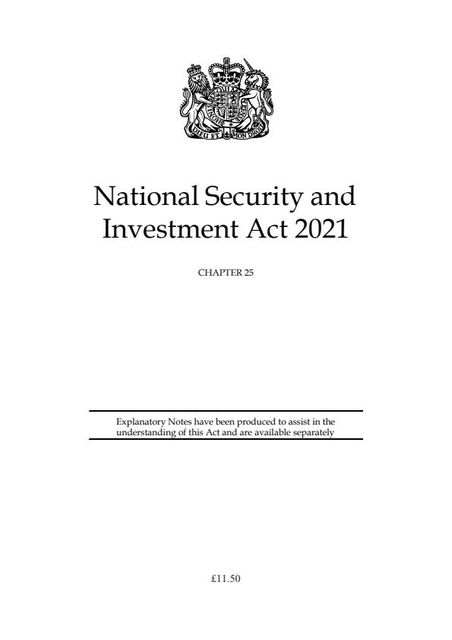 The National Security and Investment Bill receives Royal Assent featured image