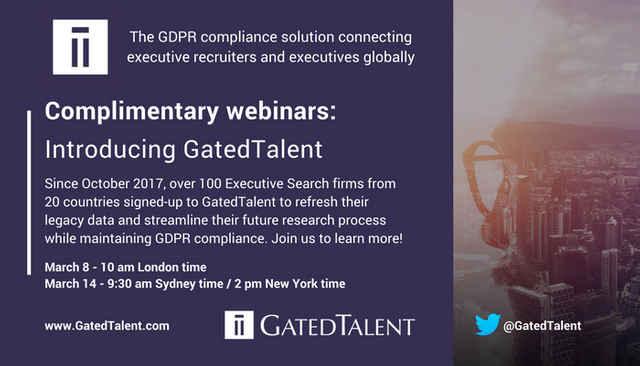 Discover GatedTalent - the GDPR compliance platform that connects executive recruiters with top talent featured image