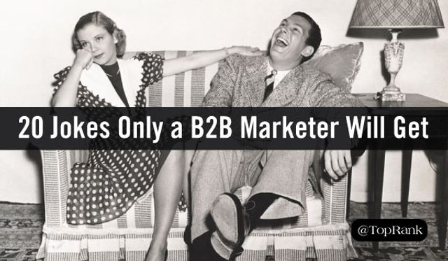 B2B marketing jokes... featured image