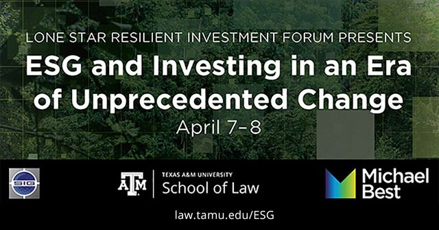 Join Me at the Conference on ESG and Investing in an Era of Unprecedented Change featured image