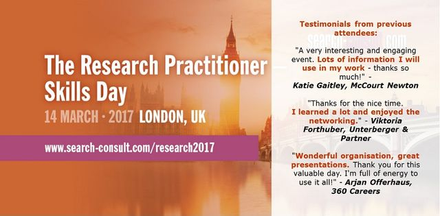 Join Fellow Executive Researchers for a Day of Exceptional Training and International Networking featured image