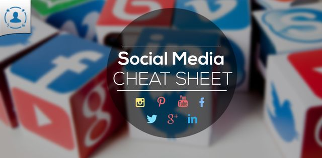 Social media image cheat sheet featured image