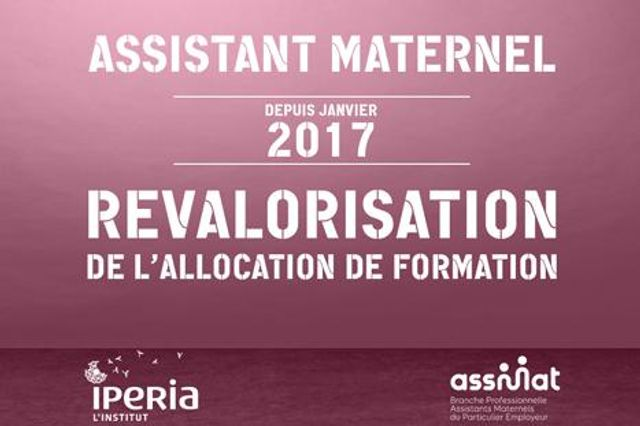 Revalorisation de l'allocation de formation 2017 pour les assistants maternels featured image