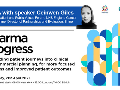What does patient centricity mean to you?  Q&A with Pharma Progress speaker Ceinwen Giles