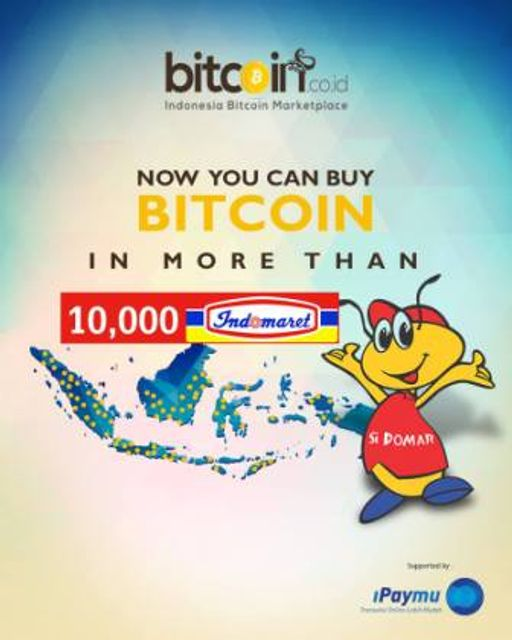 Bitcoin Available at 10,000 Indomaret Stores in Indonesia featured image