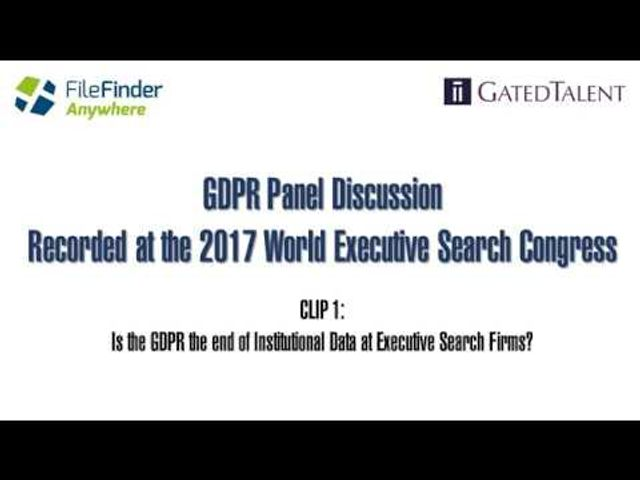 Is GDPR the end of Executive Search as we know it? featured image