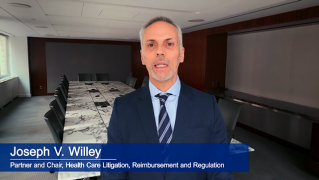 Joe Willey Discusses the Highlights of Katten's Health Care Litigation, Reimbursement and Regulation Practice featured image