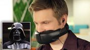 How to keep your chatty colleagues quiet: Bizarre 'Darth Vader' mask can mute loud phone conversatio