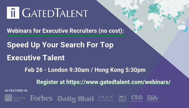 [Webinar for Executive Recruiters] Speed Up Your Search For Executives With GatedTalent featured image