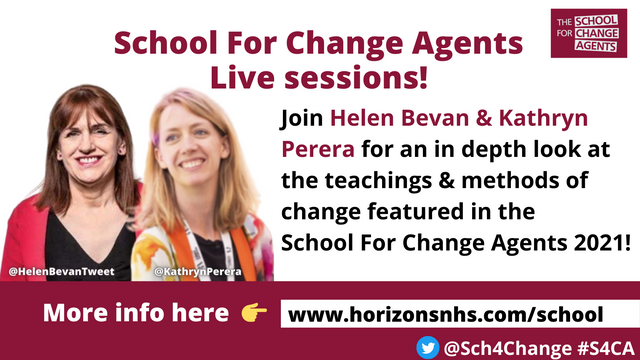 The School for Change Agents - Live Sessions! featured image