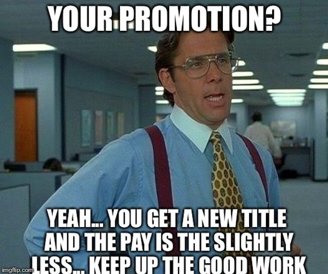 When promotions cause people to resign... featured image