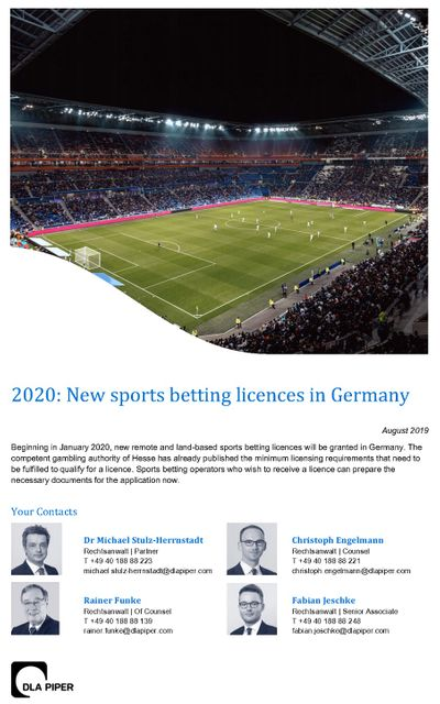 2020: New sports betting licences in Germany featured image
