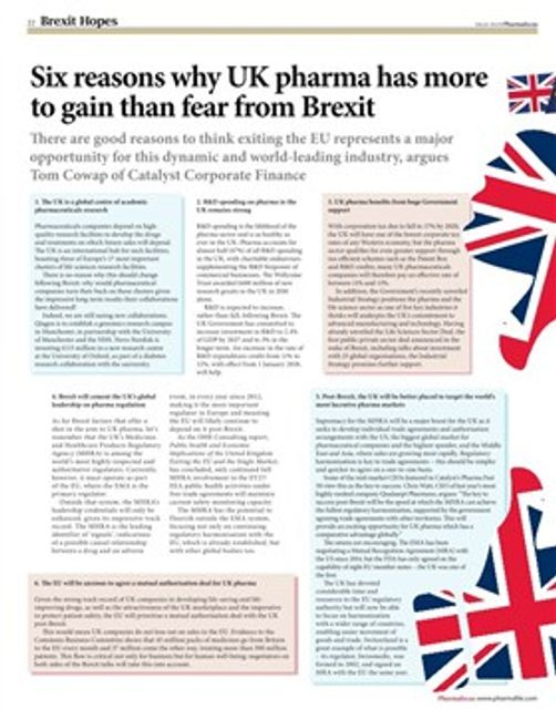 Six reasons why UK pharma has more to gain than fear from Brexit featured image