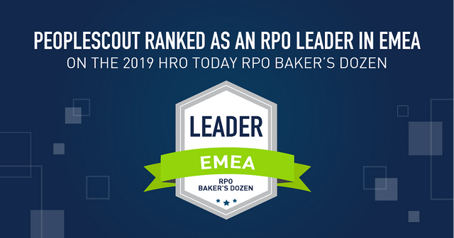 PeopleScout ranked #1 on the 2019 HRO Today RPO Baker's Dozen featured image
