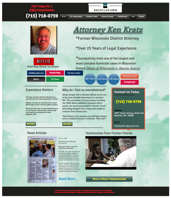 Web designer does a mock 1-hour makeover on a particularly egregious lawyer website featured image