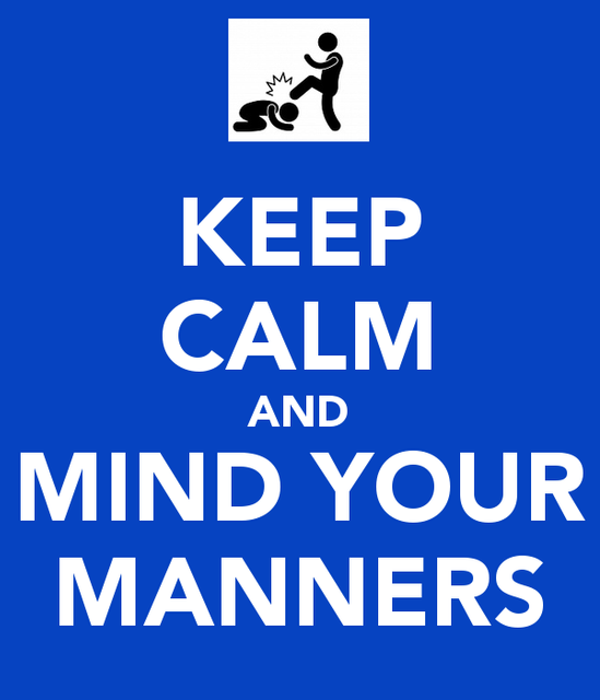 Mind your manners featured image