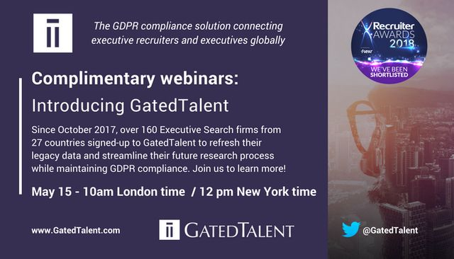 It's Not Too Late To Refresh Your Legacy Data And Get GDPR Ready With GatedTalent featured image