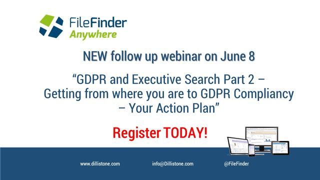 Follow-up GDPR Webinar on June 8 - attend to get your action plan! featured image
