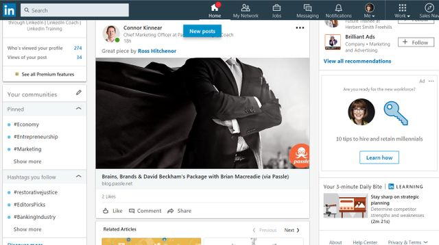 Find thought leadership content via LinkedIn featured image