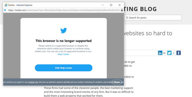 Twitter no longer supports IE11 featured image