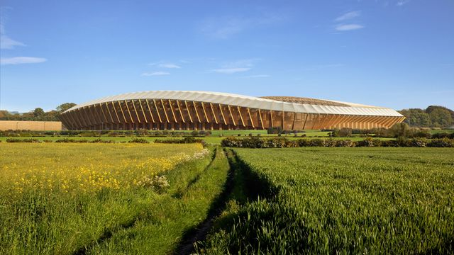The world's first wooden football stadium! featured image