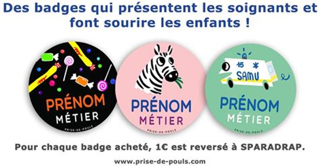 Des badges colorés au profit de SPARADRAP featured image