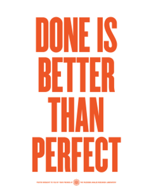 Done is better than perfect featured image