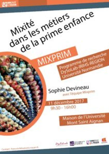 Mixité dans la Prime enfance – 11 décembre 2017 featured image