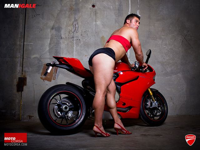 Men replace woman in sizzling motorcycle posters featured image
