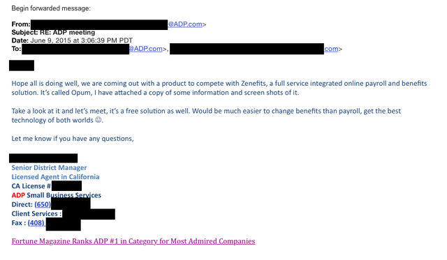 ADP sues Zenefits for defamation - and then launches a new Zenefits-like product! featured image