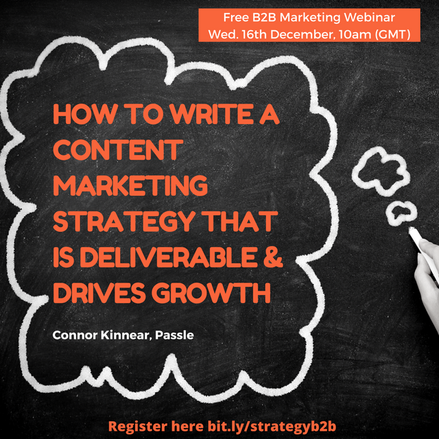 How to write a B2B content marketing strategy that drives growth featured image